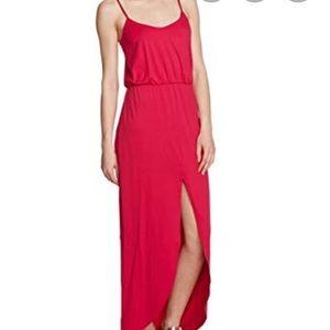 Susana Monaco Hot Pink Maxi Dress Front Slit M